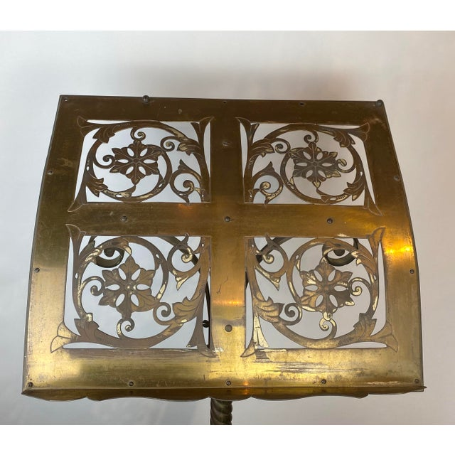 Metal 19th Century Brass Music Stand / Lectern For Sale - Image 7 of 13