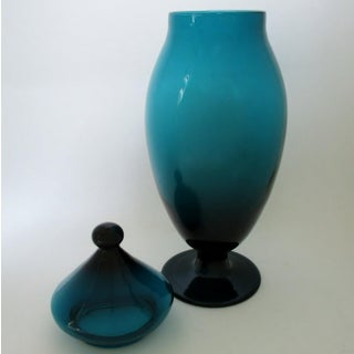 Tall Teal Apothecary Jar Preview