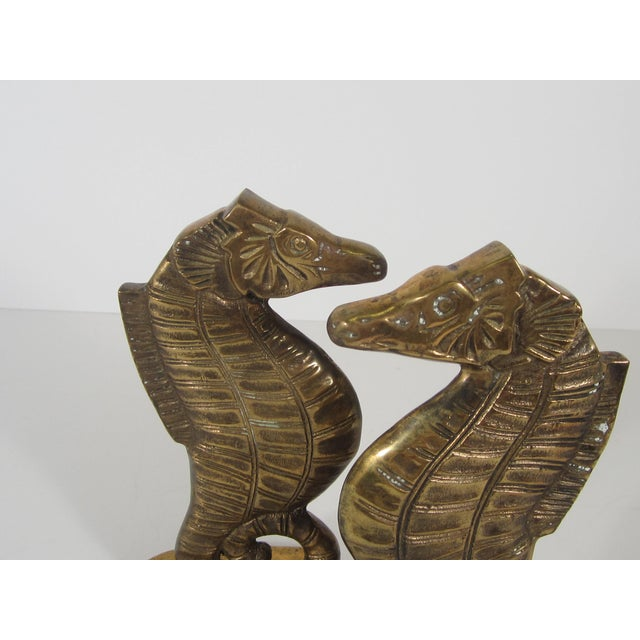 Brass Seahorse Bookends - Image 4 of 5