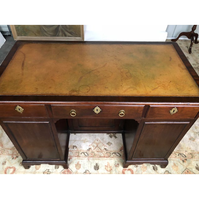 19th Century Regency Kneehole Desk of Mahogany For Sale - Image 9 of 12