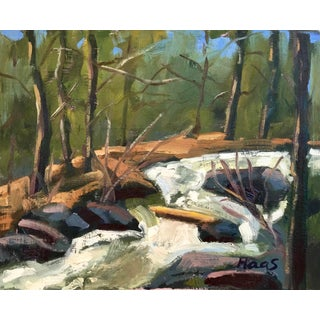 """""""Rushing Creek"""" Original Oil Painting by Haas For Sale"""