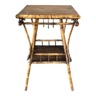 Victorian Tortoise Bamboo Table For Sale