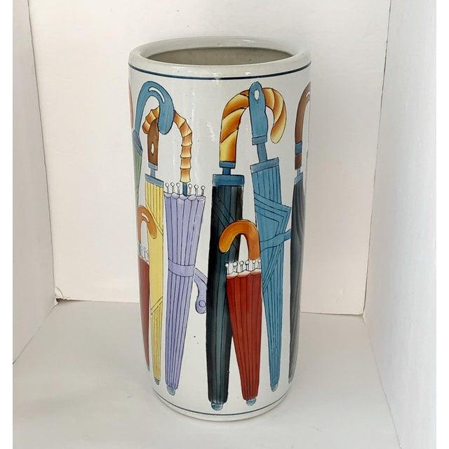 Vintage Ceramic Umbrella Stand For Sale - Image 9 of 9