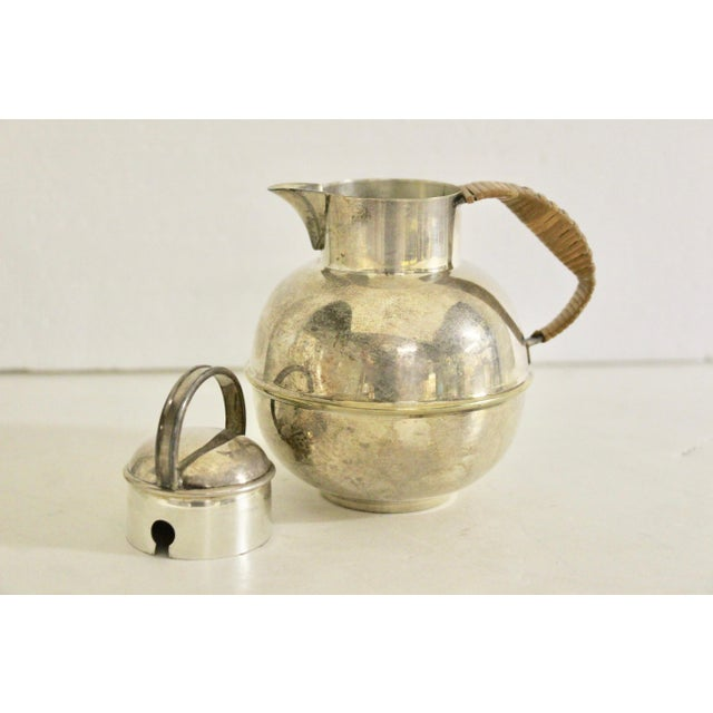 Art Deco 1920's Rattan Handle Tea Pot For Sale - Image 4 of 7