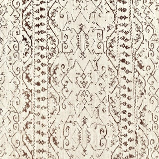 Contemporary Soane Symi Linen Designer Fabric by the Yard For Sale