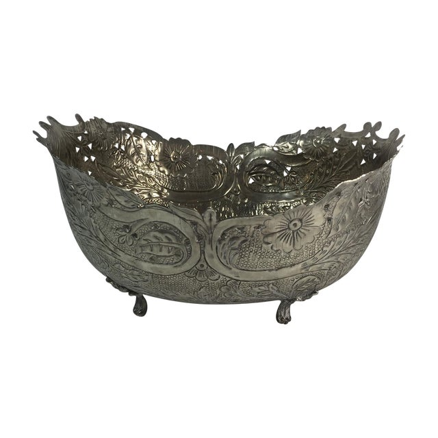 Silver Plated Planter - Image 1 of 6