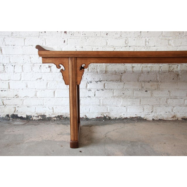 Mid 20th Century Beautiful Burled Altar Table by Baker For Sale - Image 5 of 11