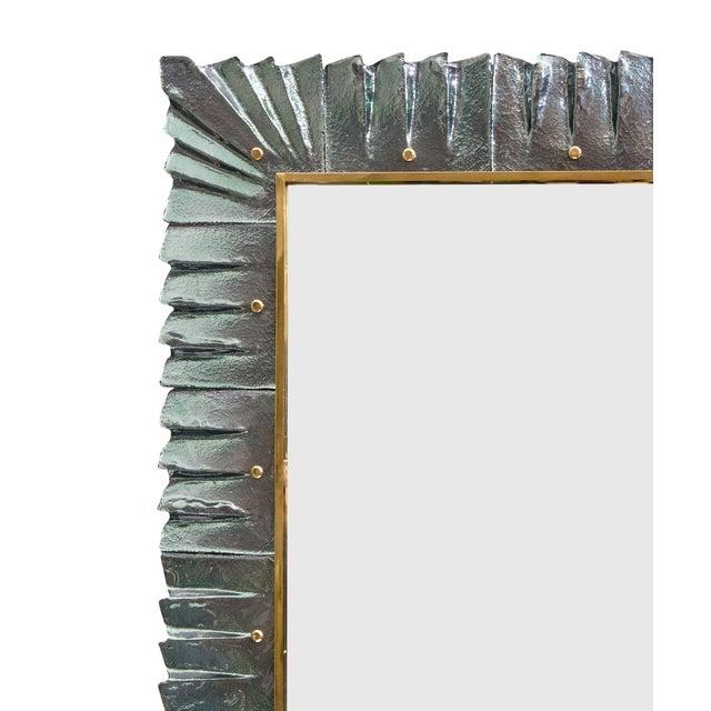 Mid-Century Modern Murano Glass Aqua Mirrors For Sale - Image 3 of 10