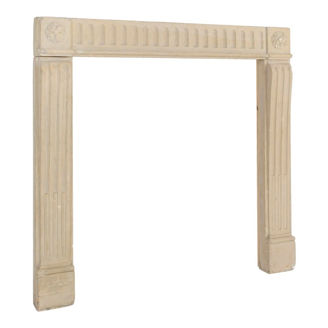 French Louis XVI Limestone Fireplace Surround For Sale