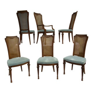 Drexel Italian Style Dining Chairs -Set of Six For Sale