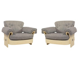 Pair of Italian Lounge Chairs For Sale