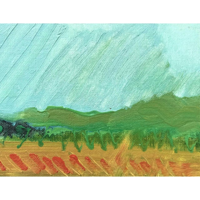 Paper 1970s Expressionist Landscape by Norman F. Goodwin For Sale - Image 7 of 8