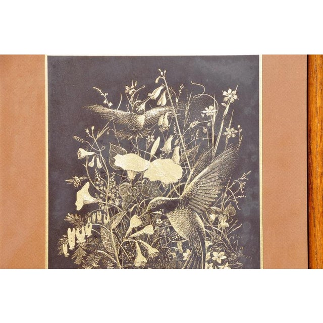 (PRICE IS NEGOTIABLE. FEEL FREE TO MAKE REASONABLE OFFERS.) This is a beautiful gold foil etching done by Paul M. Breeden...