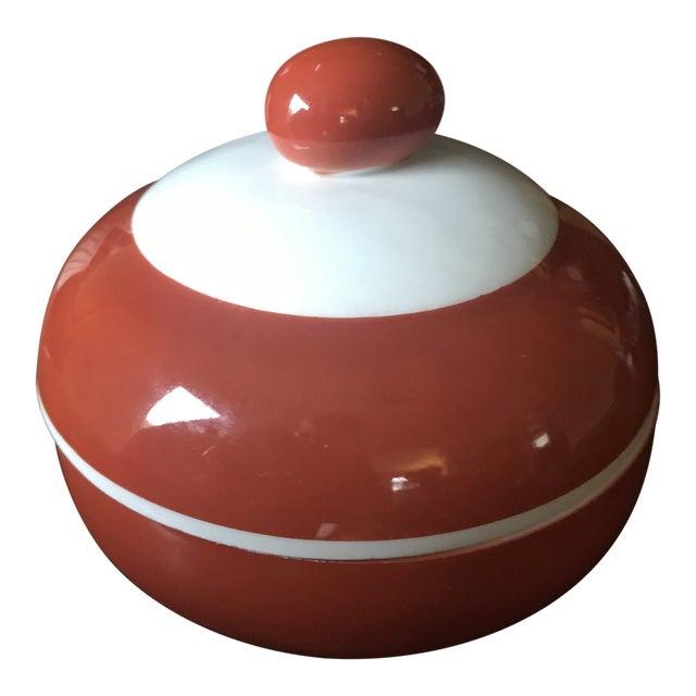 Antique Beyer Bock German Sienna Ceramic Serving Dish For Sale