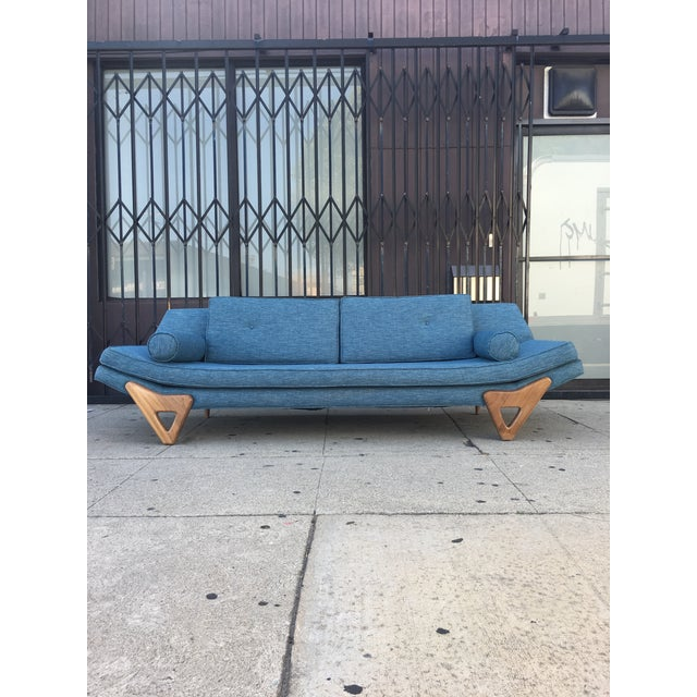 """Adrian Persall Inspired """"Gondola"""" Sofa/ Custom Made to order. Trim legs are made with walnut wood and overall fabric..."""