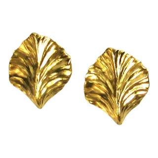Robert Goossens Leaf Earrings For Sale