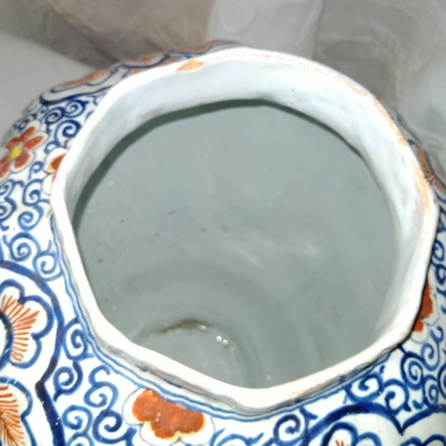 Late 20th Century Delft Lidded Ginger Jar For Sale - Image 5 of 12