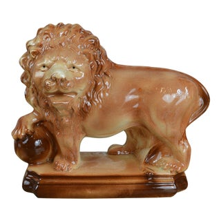 Mid 19th Century Staffordshire Lion Figure For Sale