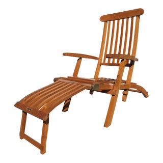 First Class Deck Chair Queen Elizabeth 1930s For Sale