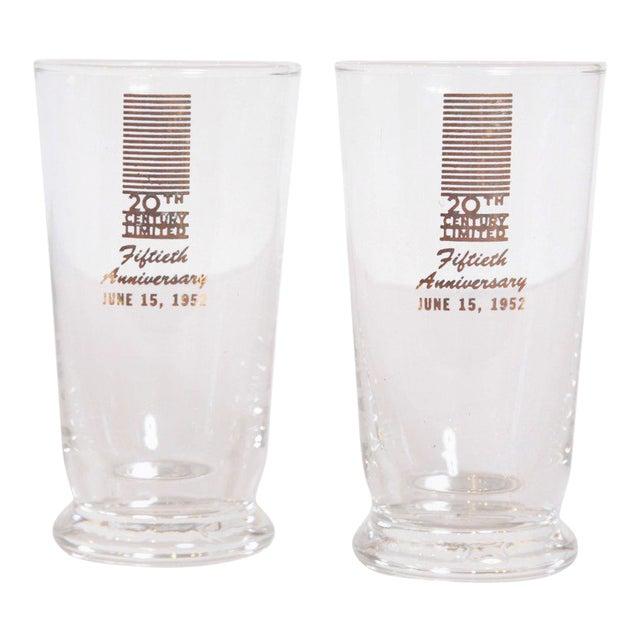 Art Deco 20th Century Limited Glassware, Fiftieth Anniversary 1952, in Box For Sale