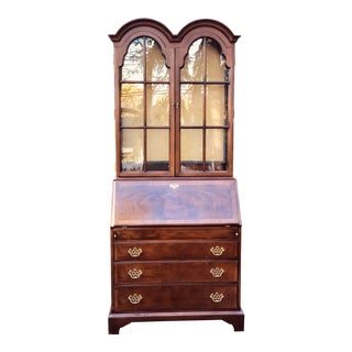 1990s Chippendale Hickory Chair James River Secretary Desk For Sale
