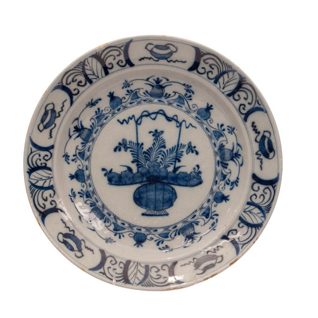 Ceramic 17th - 18th Century Holland Delft Pottery Charge Plate For Sale - Image 7 of 7