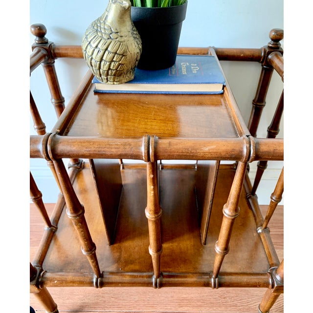 Mid 20th Century Hollywood Regency Faux Bamboo Magazine Racks For Sale - Image 5 of 8