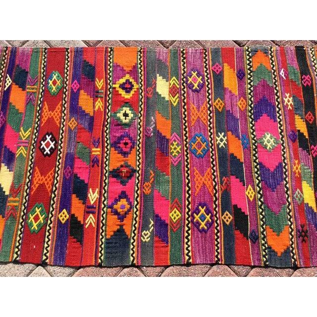 Modern Hot Pink Turkish Kilim Rug For Sale - Image 3 of 9