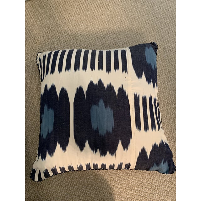 Madeline Weinrib 18x18 blue Collins pillows. Set of 2. Brand new, never been used. Retail price: $525 per pillow, $1050...