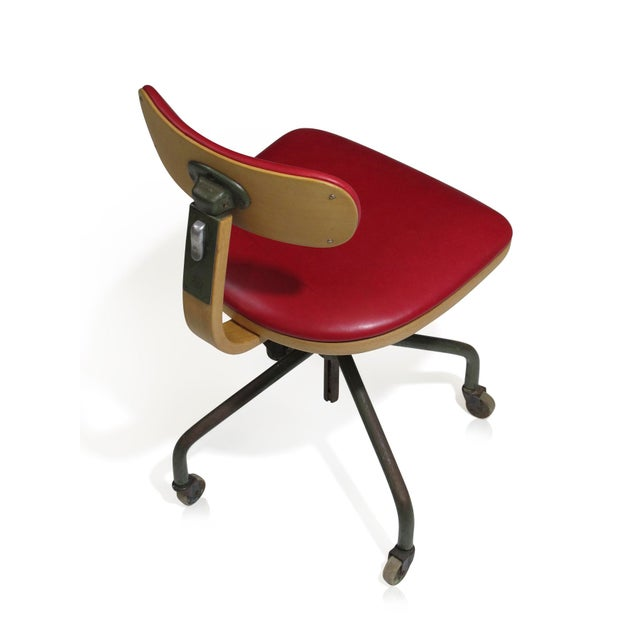 Gray 1931 Jorgen Rasmussen for Fritz Hansen Office Chair For Sale - Image 8 of 9