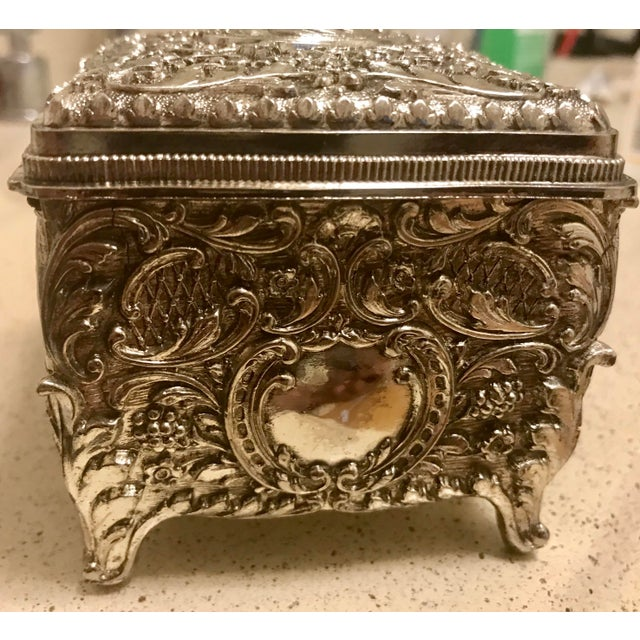 Chinese Silver Cigarette Box For Sale - Image 4 of 8