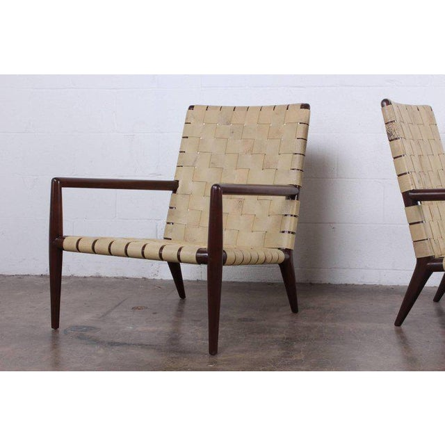 Mid-Century Modern Pair of Lounge Chairs by T.H. Robsjohn-Gibbings For Sale - Image 3 of 11