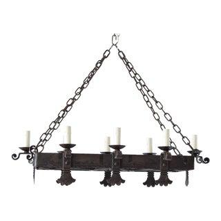 Large Rectangular Chandelier For Sale