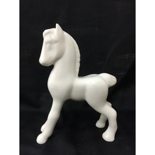 Beautiful, pristine Shenango China horse, circa 1910. Many of these were used as toys, and it's difficult to find one in...