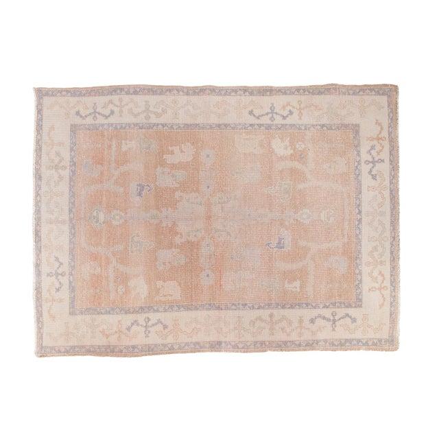 "Distressed Oushak Carpet - 5'9"" X 7'9"" - Image 1 of 7"