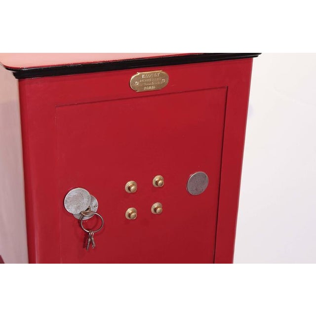 19th Century Parisian Iron Safe Box & Keys - Image 7 of 10