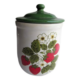 """Vintage McCoy Covered Jar, Cookie Jar, Canister, 1950's 9"""" X 6"""" For Sale"""