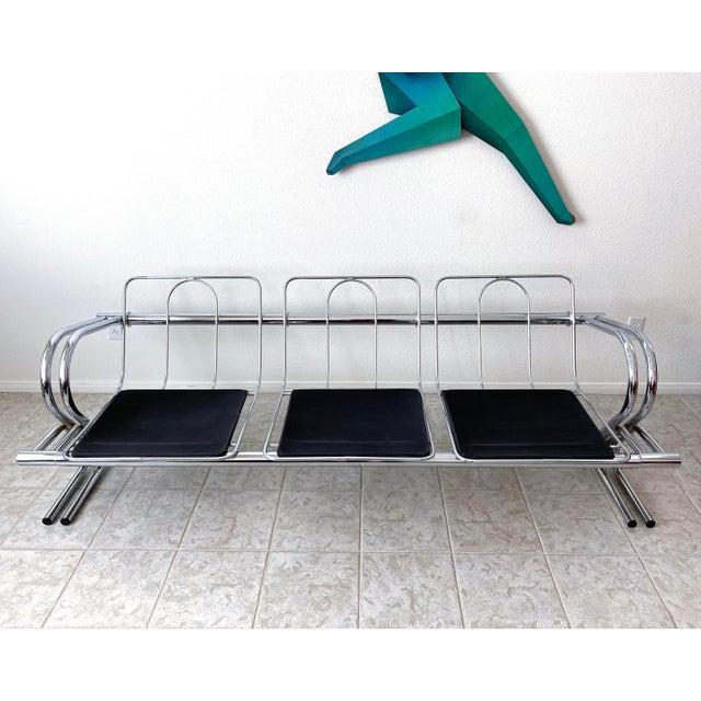 Mid Century Modern Jerry Johnson Chrome Sofa For Sale - Image 12 of 12