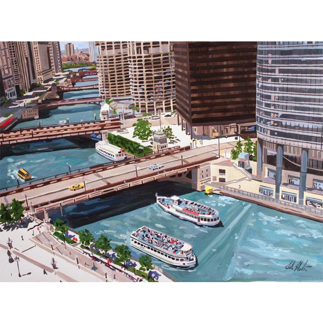 Contemporary Giclee Print - Bending Chicago For Sale