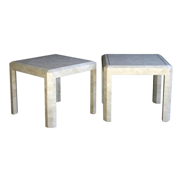 Maitland Smith Tessellated Marble Tables, a Pair For Sale