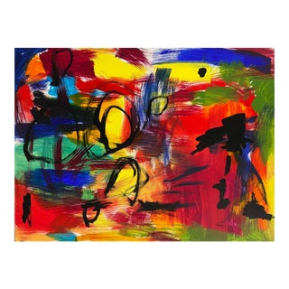 'Abstract, Scarlet and Spring Green', American School For Sale