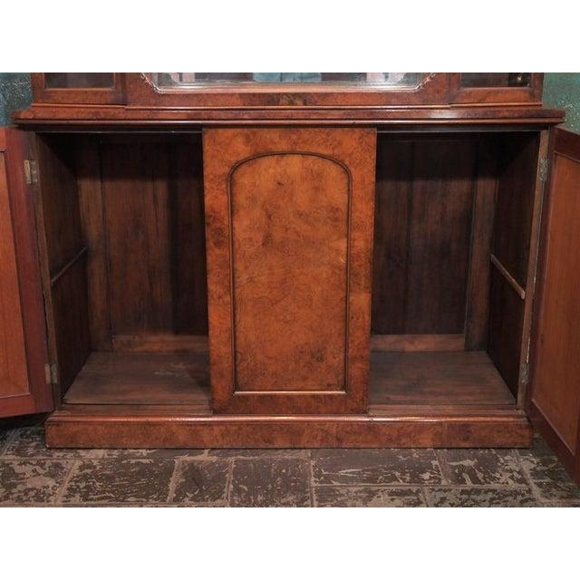 "Walnut English Burl Walnut ""Cocktails"" Bar Cabinet-1920's For Sale - Image 7 of 9"