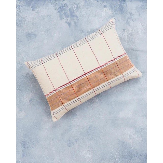 Roshni Organic Handwoven Pillow Cover For Sale In New York - Image 6 of 6