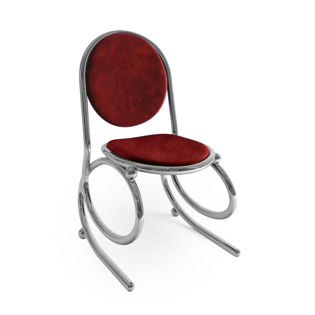 Troy Smith Designs 21st Century Custom Made Contemporary One of a Kind Spring Chair For Sale - Image 4 of 5