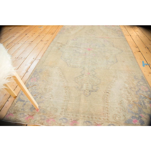 Vintage Distressed Oushak Rug - 4' x 7' - Image 4 of 11