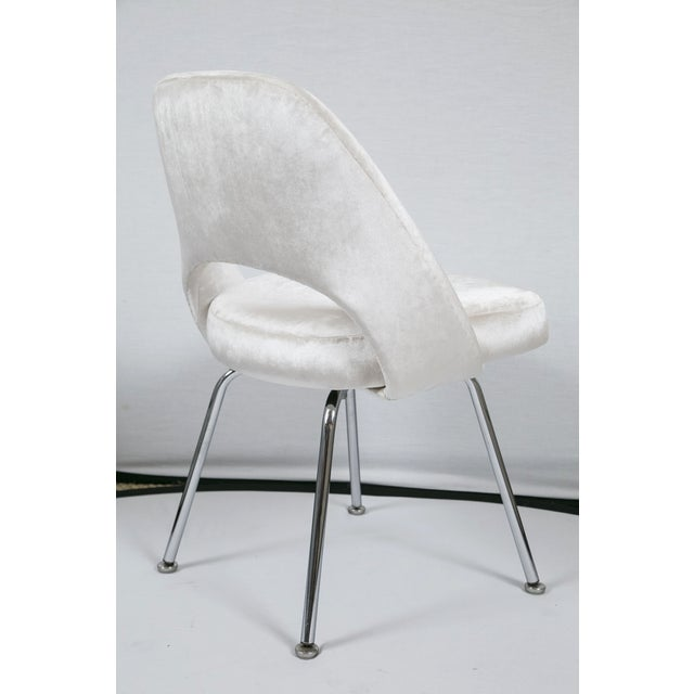 Saarinen Executive Armless Velvet Chairs - S/6 - Image 10 of 10