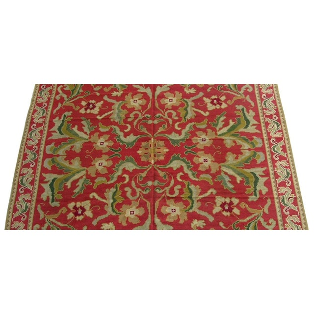 Empire 1920s Antique Handmade Portuguese Needlepoint Rug - 11'9'' X 8'6'' For Sale - Image 3 of 6
