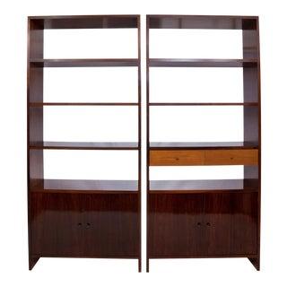 Branco & Preto Bookcases in Jacarand - a Pair For Sale