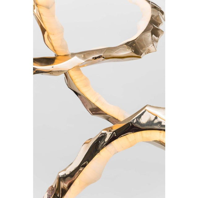 Gold Markus Haase, Bronze and Onyx Circlet Chandelier, Usa, 2018 For Sale - Image 8 of 11