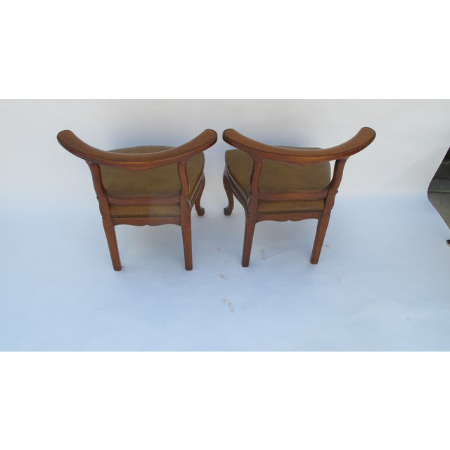 English Regency Leather Side Chairs - Pair - Image 5 of 5